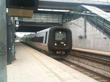 スェーデンに向かう鉄道