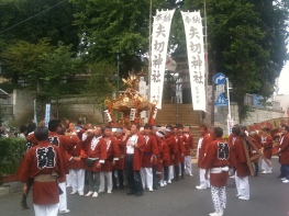 矢切神社とお神輿