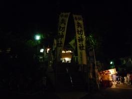 夜の矢切神社