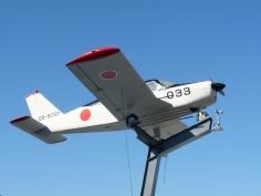 飛行機も展示されています。