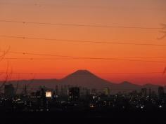 日が暮れて、街明かりがともりました。
