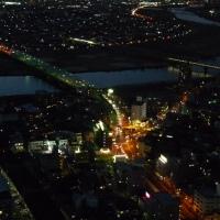 市川アイリンクタウン展望施設@千葉県市川市>市川広小路の夜景