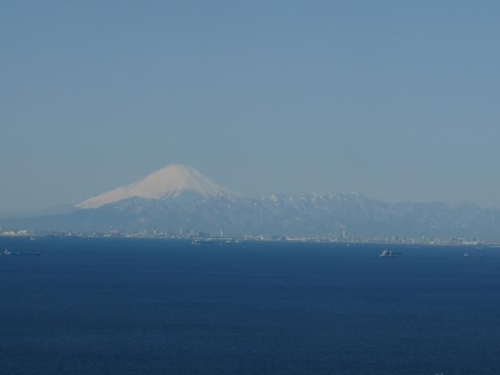 丹沢山系と富士山