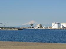 ポートパーク敷地内からの富士山