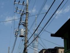 亀戸駅から途中で見た東京スカイツリー