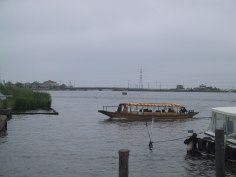 水生植物園到着の遊覧船