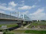 江戸川を渡る北総線鉄橋
