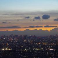 富士山と東京の2つのタワー@市川市I-linkタウン展望施設