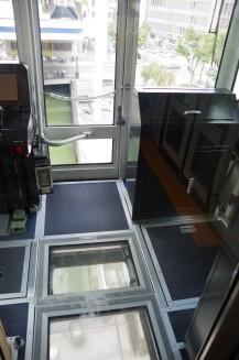 視野が広い運転室