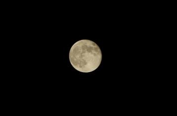 オマケ:中秋の名月翌日の月