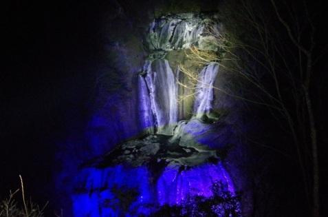 夜 新観瀑台にて