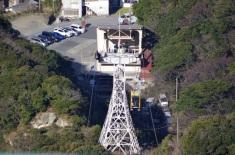 山頂駅から見た山麓駅