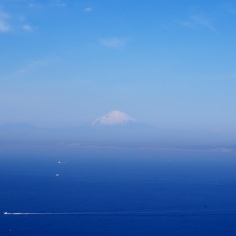 伊豆半島の山と富士山と箱根