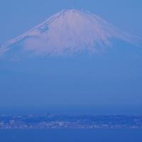 Mt.Fuji beyond Miura Penisula