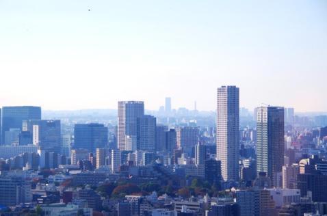 横浜方面の景色@東京タワー