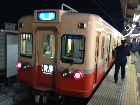 高砂駅にて赤電