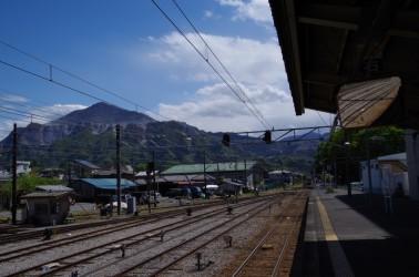 秩父駅にて