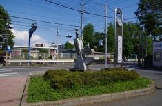 バス通りの標識