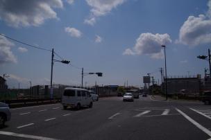 中矢切で交差する松戸市川線