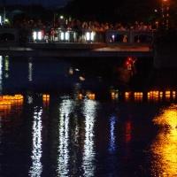 真間川の灯篭流し@千葉県市川市