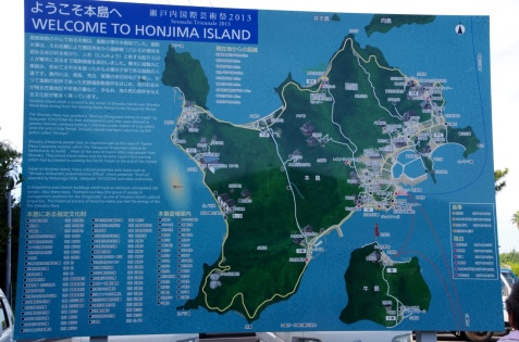 本島の案内図
