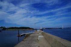 本島港から見た与島