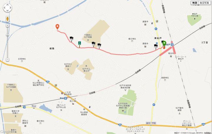 東松戸駅から昭和の杜