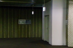 閉鎖されたホーム出入口