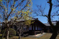 正庁:重要文化財で、弘道館を象徴する建物です