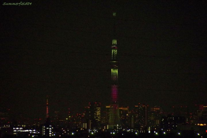 ダイヤモンドベールの東京タワーと舞のスカイツリー