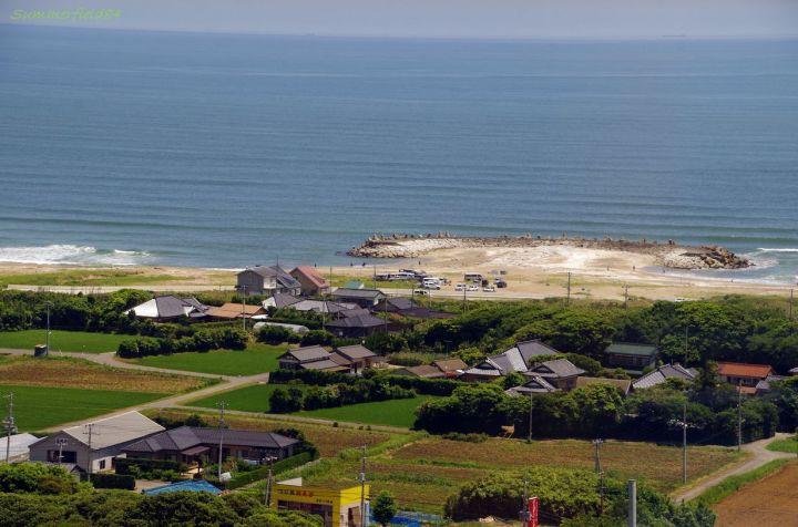 展望タワーから見た海岸