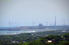 風力発電にズーム