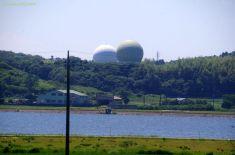 北浦越しに見える内閣衛星情報センター北浦副センター
