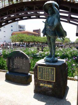 潮来の伊太郎像