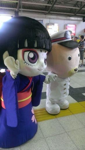 佐倉城の妖カムロちゃんと駅長犬