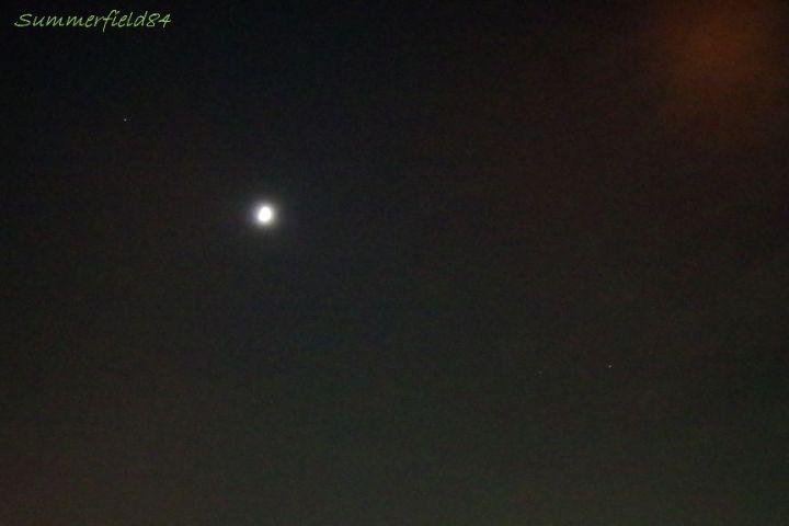 左上が土星、右下が火星。右上はオレンジ棟の迷光orz