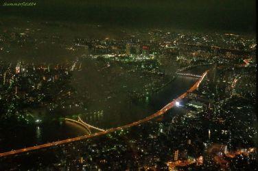 隅田川にかかる雲