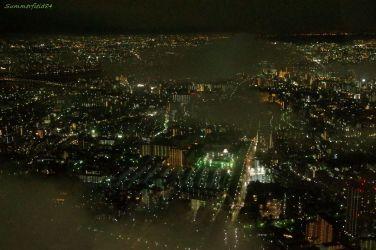 東京湾方面の雲