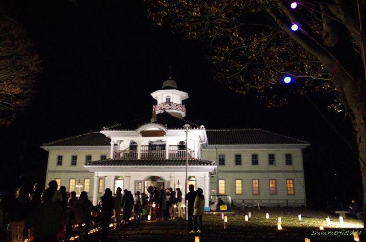 旧水海道小学校ライトアップ