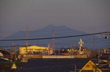 筑波山にズーム