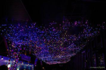 展望室屋根のイルミ