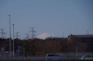 富士山の頂上が見えた