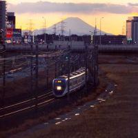 富士山とスカイツリー@千葉ニュータウン
