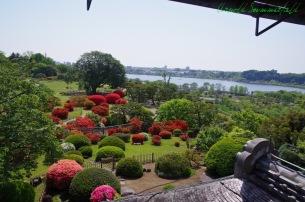 好文亭二階から遠くに見える千波湖